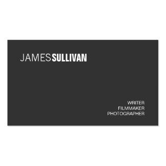 Profesional creativo moderno negro simple tarjetas de visita