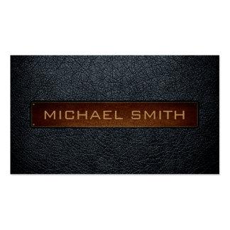 Profesional de cuero arsénico de la mirada tarjetas de visita