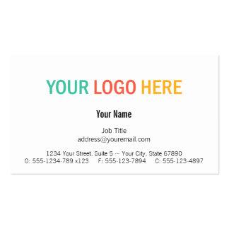 Profesional de encargo moderno del logotipo de plantilla de tarjeta personal