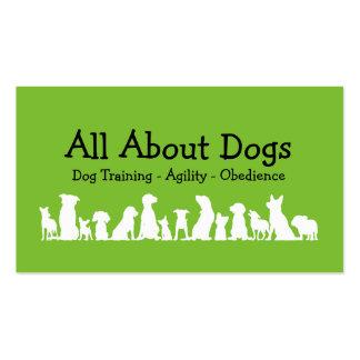 Profesional de entrenamiento del perro tarjetas de visita
