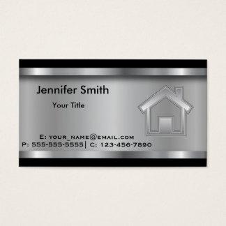 Profesional de la plantilla el   del agente tarjeta de negocios