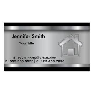 Profesional de la plantilla el | del agente tarjetas de visita