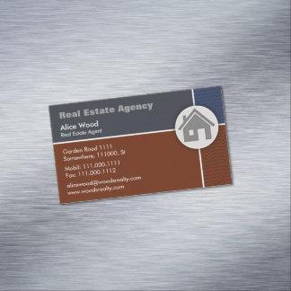 Profesional de las propiedades inmobiliarias el | tarjetas de visita magnéticas (paquete de 25)