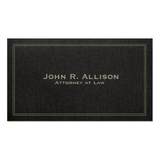Profesional de lino negro tradicional simple de la tarjetas de visita