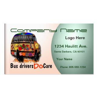 Profesional del conductor del autobús tarjetas de visita