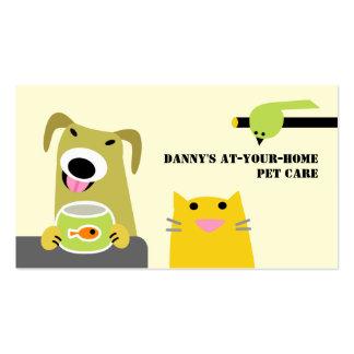 Profesional del cuidado de animales de compañía tarjetas de visita