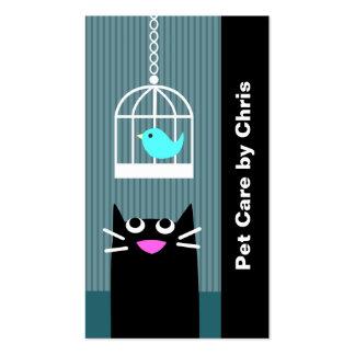 Profesional del cuidado de animales de compañía tarjetas personales
