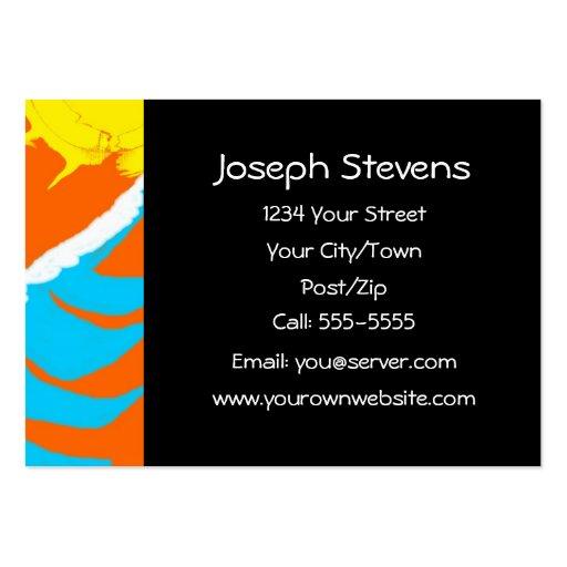 Profesional del ~ de la persona que practica surf tarjeta de visita