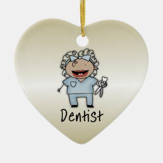 Profesional del dentista de la mujer del empleo pe adornos