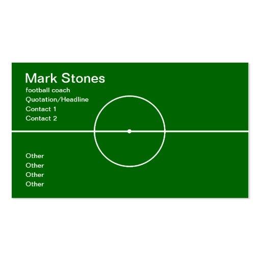 Profesional del entrenador de fútbol plantillas de tarjetas personales