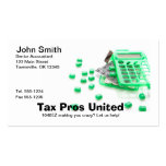 Profesional del impuesto - contable - tarjeta de v