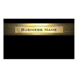 Profesional del negocio 2 del oro tarjetas de visita