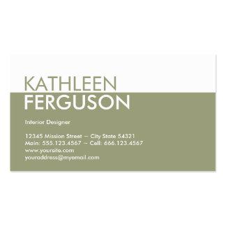 Profesional del verde del bloque del color de tono plantilla de tarjeta de negocio