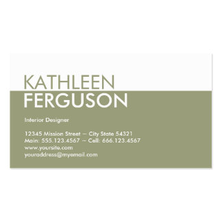 Profesional del verde del bloque del color de tono tarjetas de visita