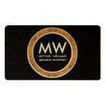 Profesional elegante círculo dorado simple mínimo tarjetas de visita