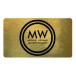 Profesional elegante círculo oro simple terciopelo tarjetas de visita