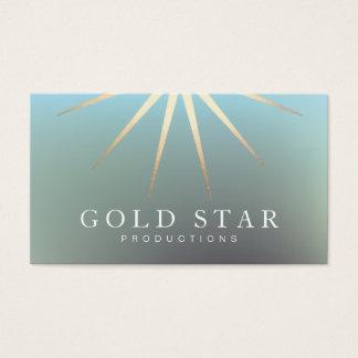 Profesional elegante del logotipo de la estrella tarjetas de visita