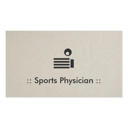 Profesional elegante del médico de los deportes tarjeta personal