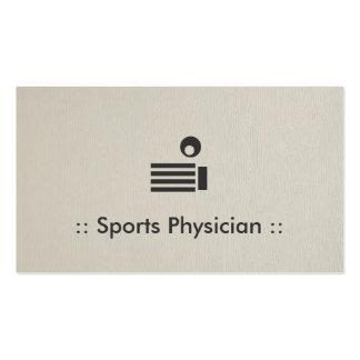 Profesional elegante del médico de los deportes tarjetas de visita