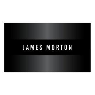 Profesional elegante gris negro masculino moderno tarjetas de visita