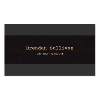 Profesional elegante negro simple tarjetas de visita