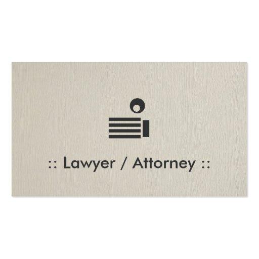 Profesional elegante simple del abogado/del abogad plantilla de tarjeta de negocio