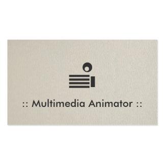 Profesional elegante simple del animador de las tarjetas de visita