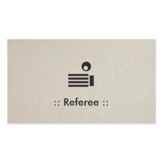 Profesional elegante simple del árbitro tarjetas de visita