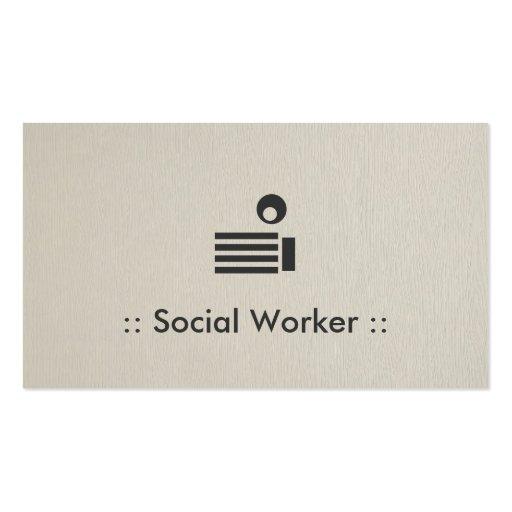 Profesional elegante simple del asistente social tarjetas de visita