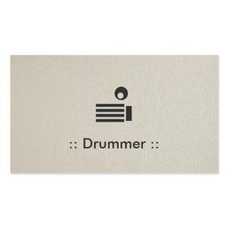 Profesional elegante simple del batería tarjetas de visita