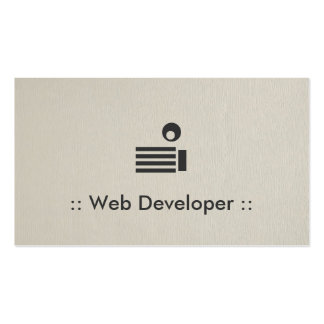 Profesional elegante simple del desarrollador de tarjetas de visita