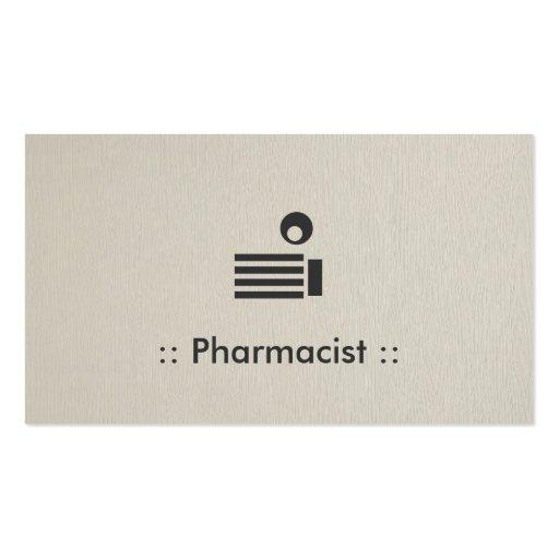 Profesional elegante simple del farmacéutico tarjetas de visita