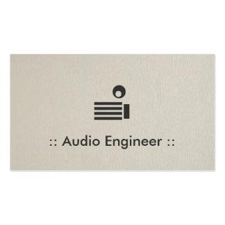 Profesional elegante simple del ingeniero audio tarjetas de visita