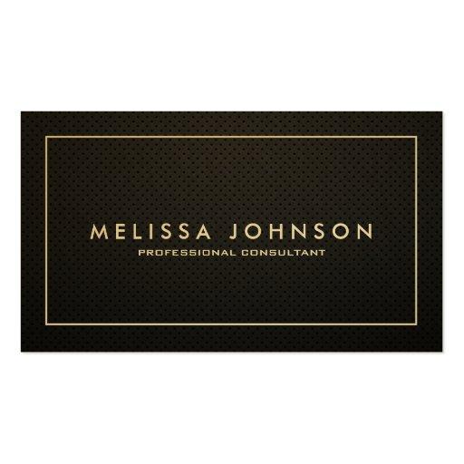 Profesional elegante y moderno del negro y del oro tarjetas de visita