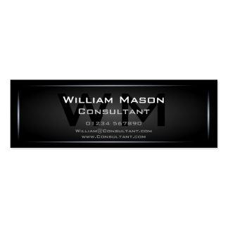 Profesional enmarcado negro del monograma - tarjet tarjetas de visita mini