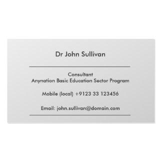 Profesional experto del consultor del desarrollo tarjetas de visita