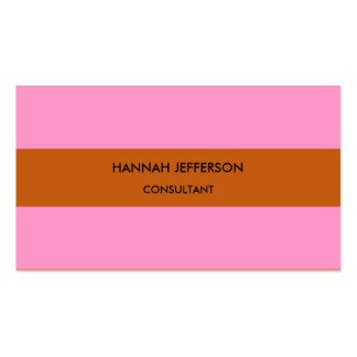 Profesional femenino minimalista rosado moderno de tarjetas de visita
