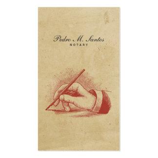 Profesional fresco simple de la mano de la pluma tarjetas de visita
