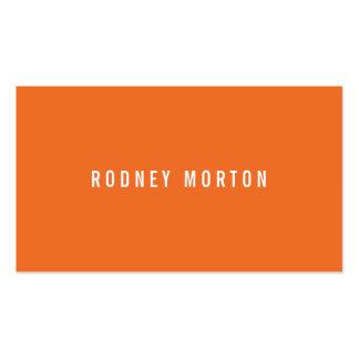 Profesional genérico simple gris anaranjado modern tarjetas de visita