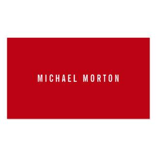 Profesional genérico simple rojo moderno plantilla de tarjeta de negocio