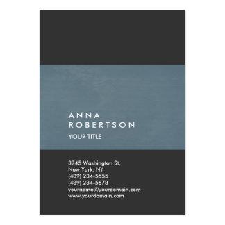 Profesional grande de moda creativo del gris azul tarjetas de visita grandes