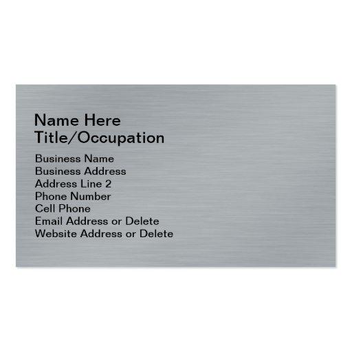 Profesional gris cepillado de la mirada del metal tarjeta de visita