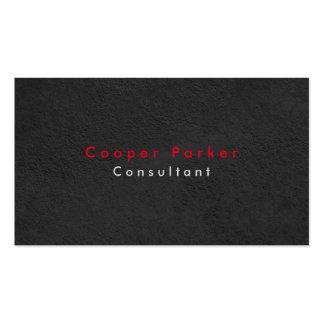Profesional gris elegante llano simple de la tarjetas de visita