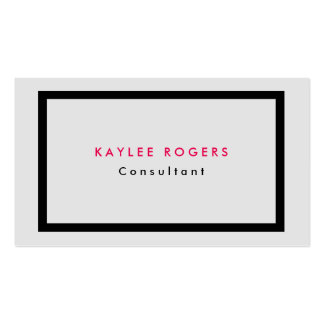 Profesional gris minimalista sofisticado llano tarjetas de visita