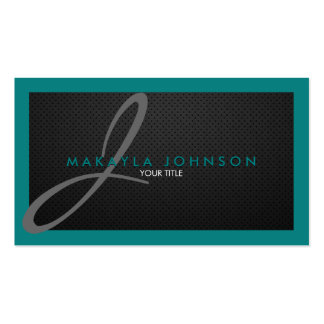 Profesional gris moderno y elegante del monograma tarjetas de visita