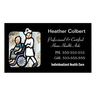 Profesional lindo del cuidador tarjetas de visita