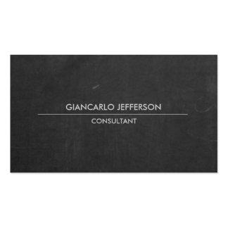 Profesional minimalista de la pizarra elegante tarjetas de visita