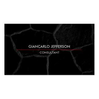 Profesional minimalista de piedra negro elegante tarjetas de visita
