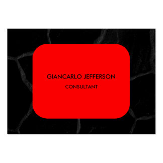 Profesional minimalista de piedra negro rojo tarjetas de visita grandes