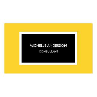 Profesional minimalista negro amarillo moderno tarjetas de visita